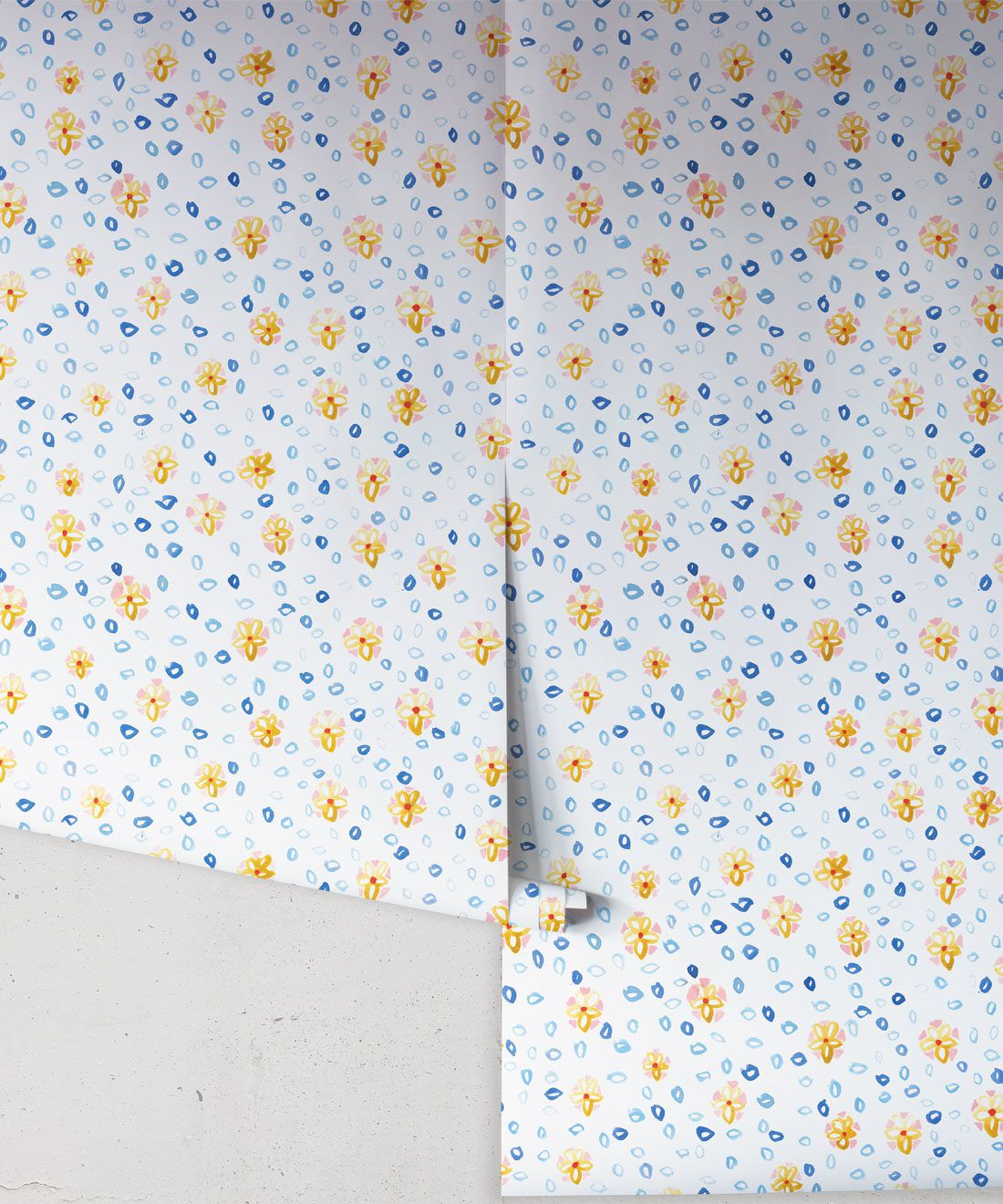 Al Hadiqa Wallpaper • Dainty Floral Design • Inky Flowery Pattern • Milton & King USA • Wallpaper Rolls • Free Shipping