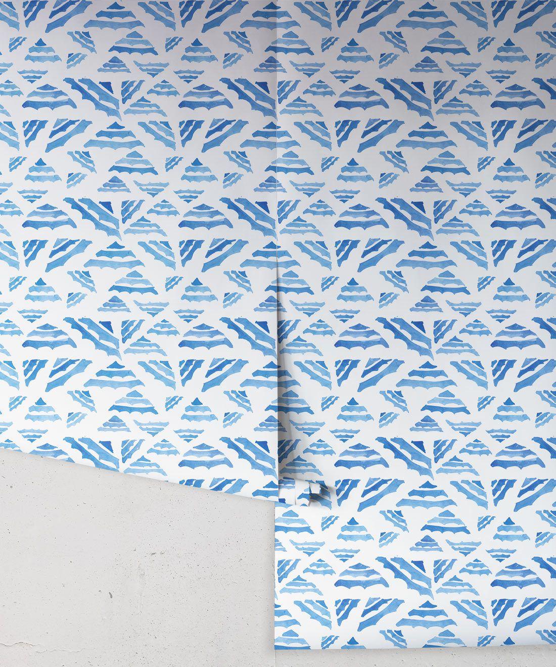 La Fontelina • Blue Inky Wallpaper • Milton & King USA