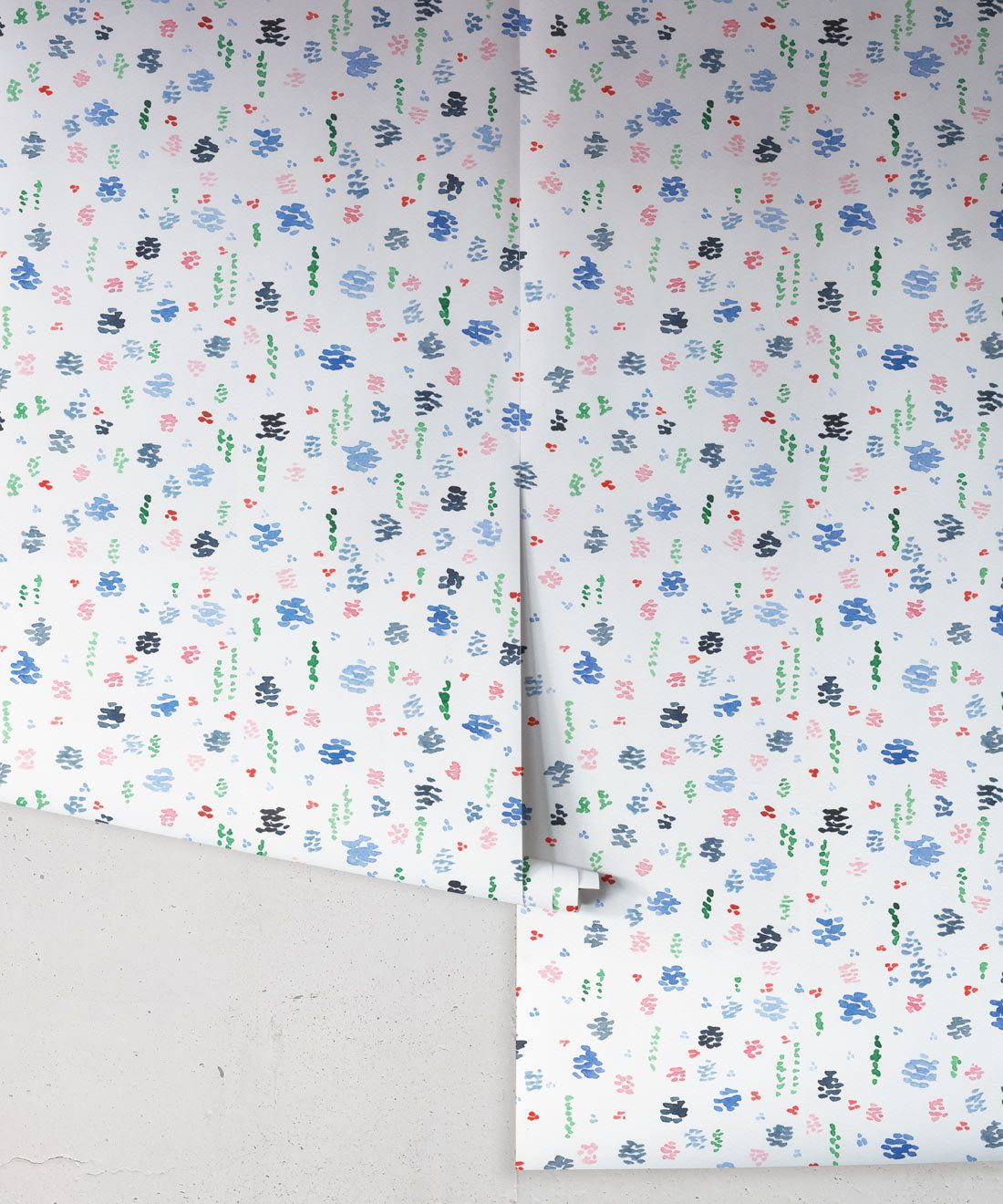 Spring Garden • Abstract Inky Floral Wallpaper • Georgia MacMillan • Kids Wallpaper • Nursery Wallpaper • Milton & King USA
