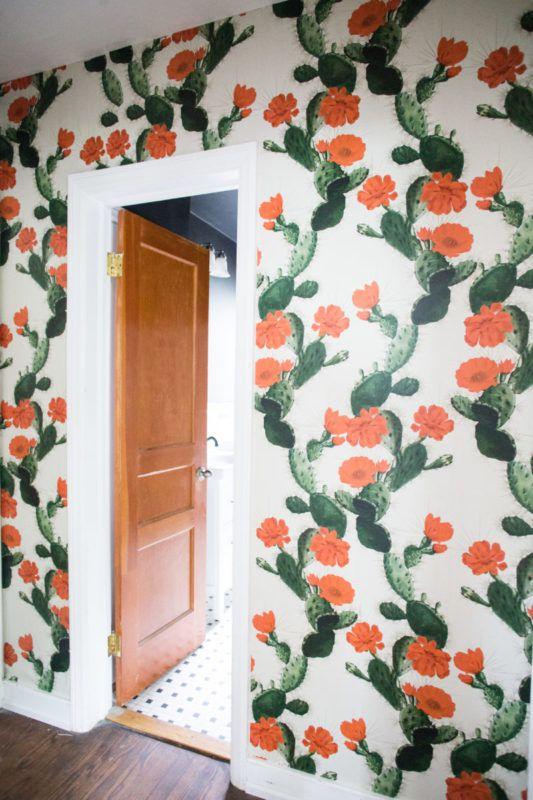Hallway Wallpaper • Cactus •Desert Decor • Live Free Amanda