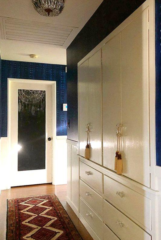 hallway wallpaper • cityscape shibori wallpaper • shavonda gardner