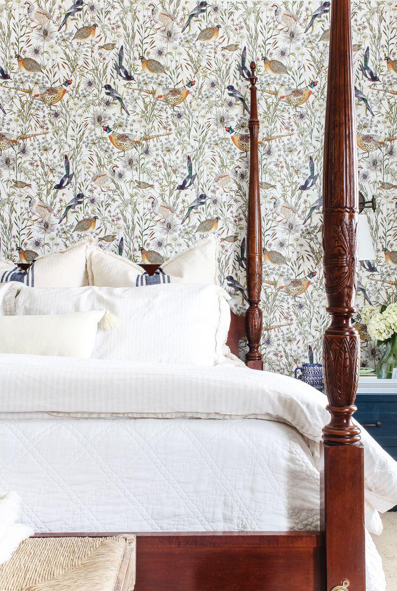 Woodland Birds Wallpaper • Jordan Kahn • Bedroom Wallpaper • Milton & King USA