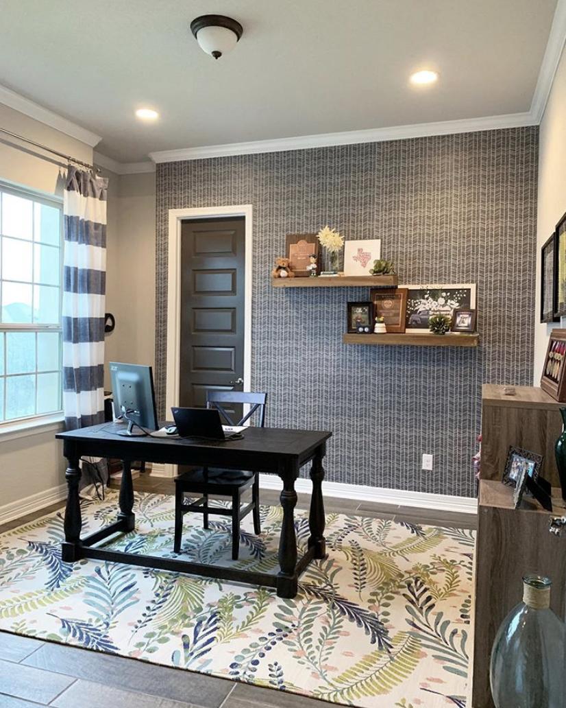Home Office • Herringbone Wallpaper