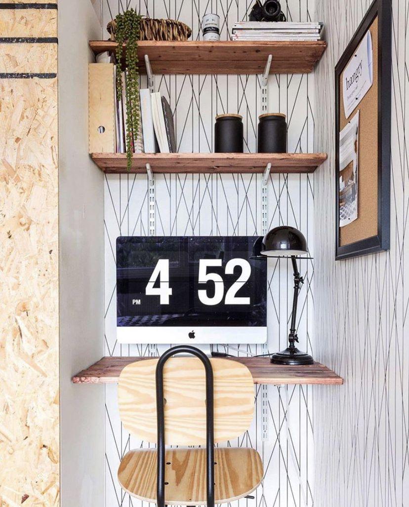 Nixon Wallpaper • Office Wallpaper • Line Wallpaper • Geometric Wallpaper • Office Space •Office Decor • Office Nook • Medina Grillo