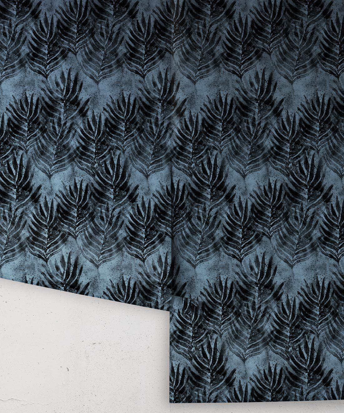 Evening Silhouette Shibori Leaf Wallpaper