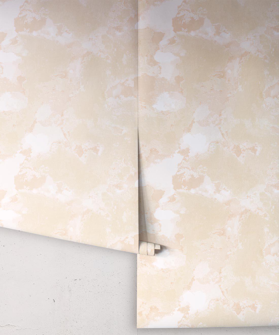 Autumn Path Wallpaper Natural • Shibori Abstract • Wallpaper Rolls