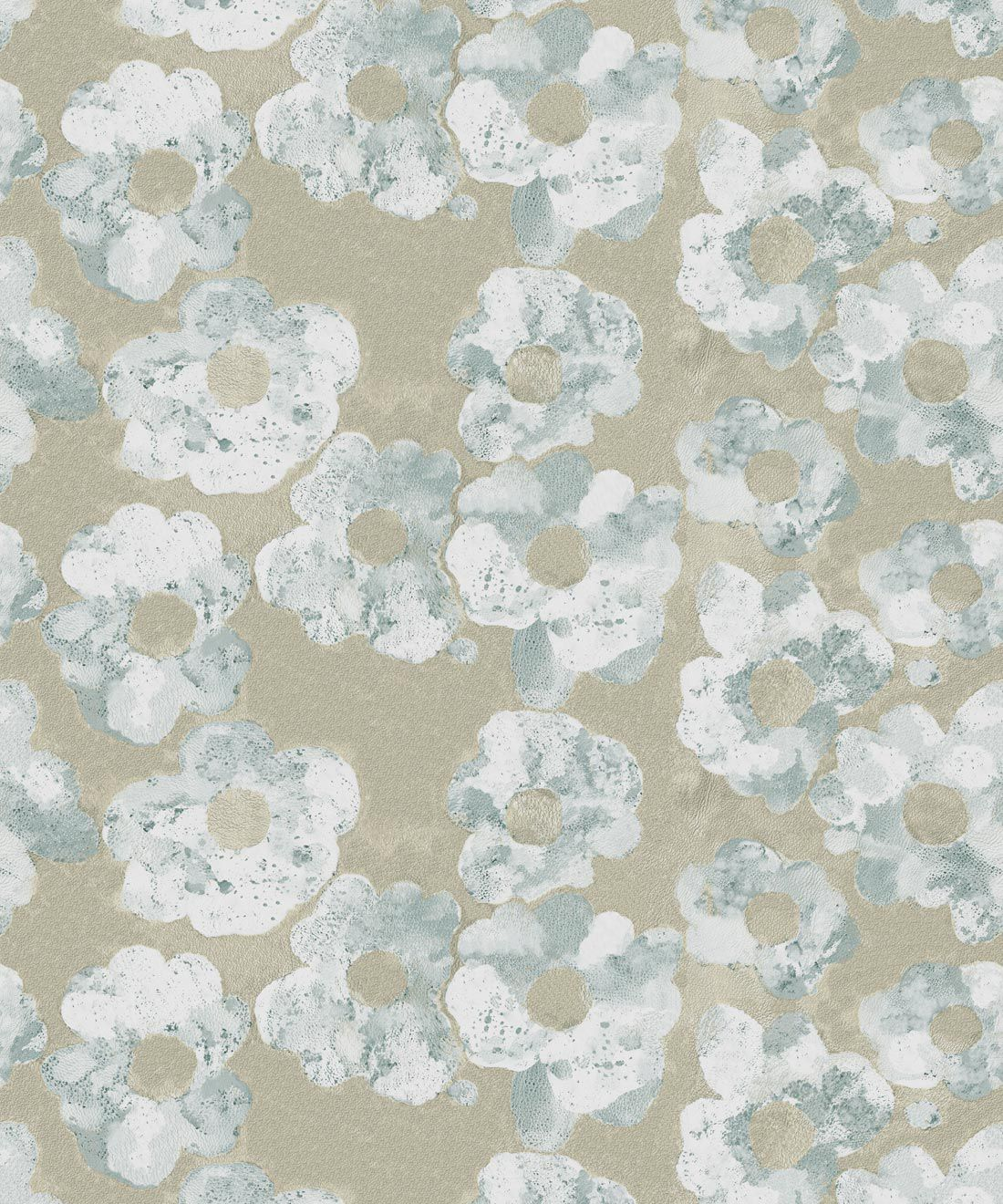Cherry Blossom Wallpaper Bronze • Shibori Floral • Swatch