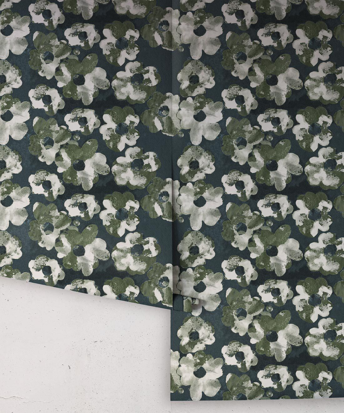 Cherry Blossom Wallpaper Night • Shibori Floral • NightRolls