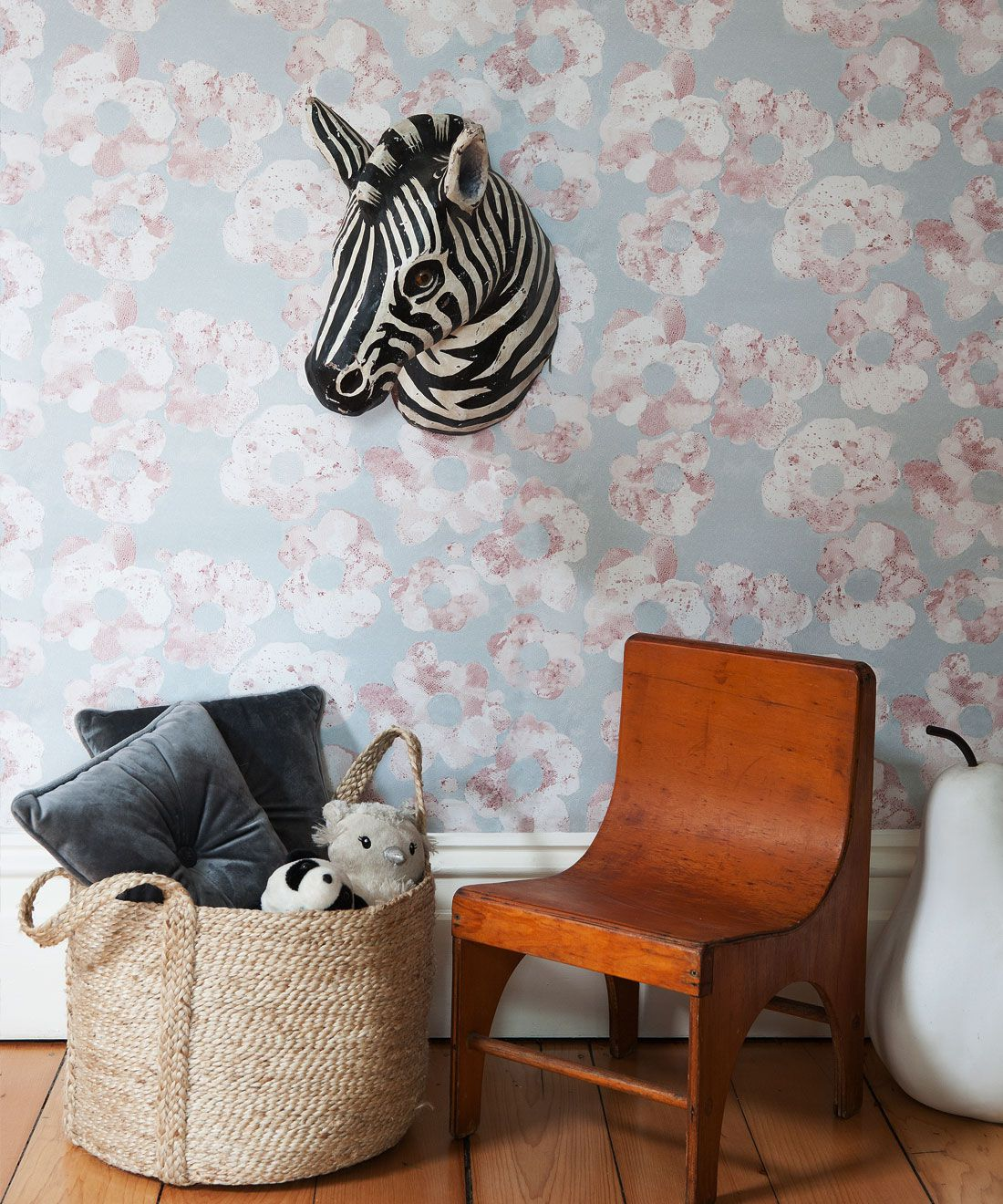 Cherry Blossom Wallpaper • Shibori Floral • Insitu Sage