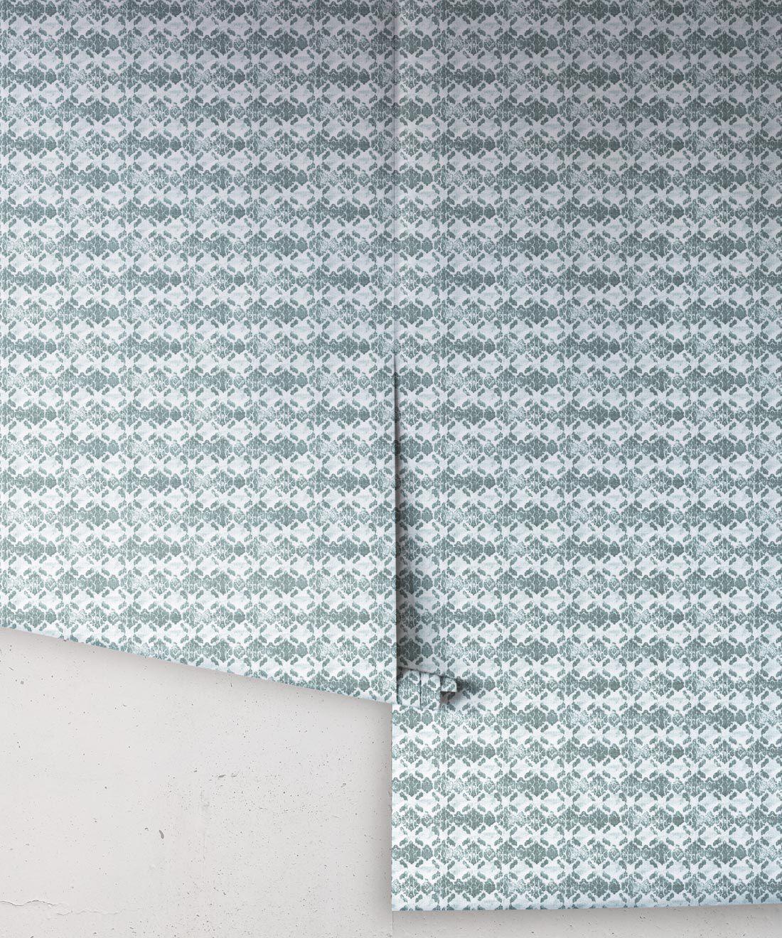 Green Ikat Wallpaper • Shibori