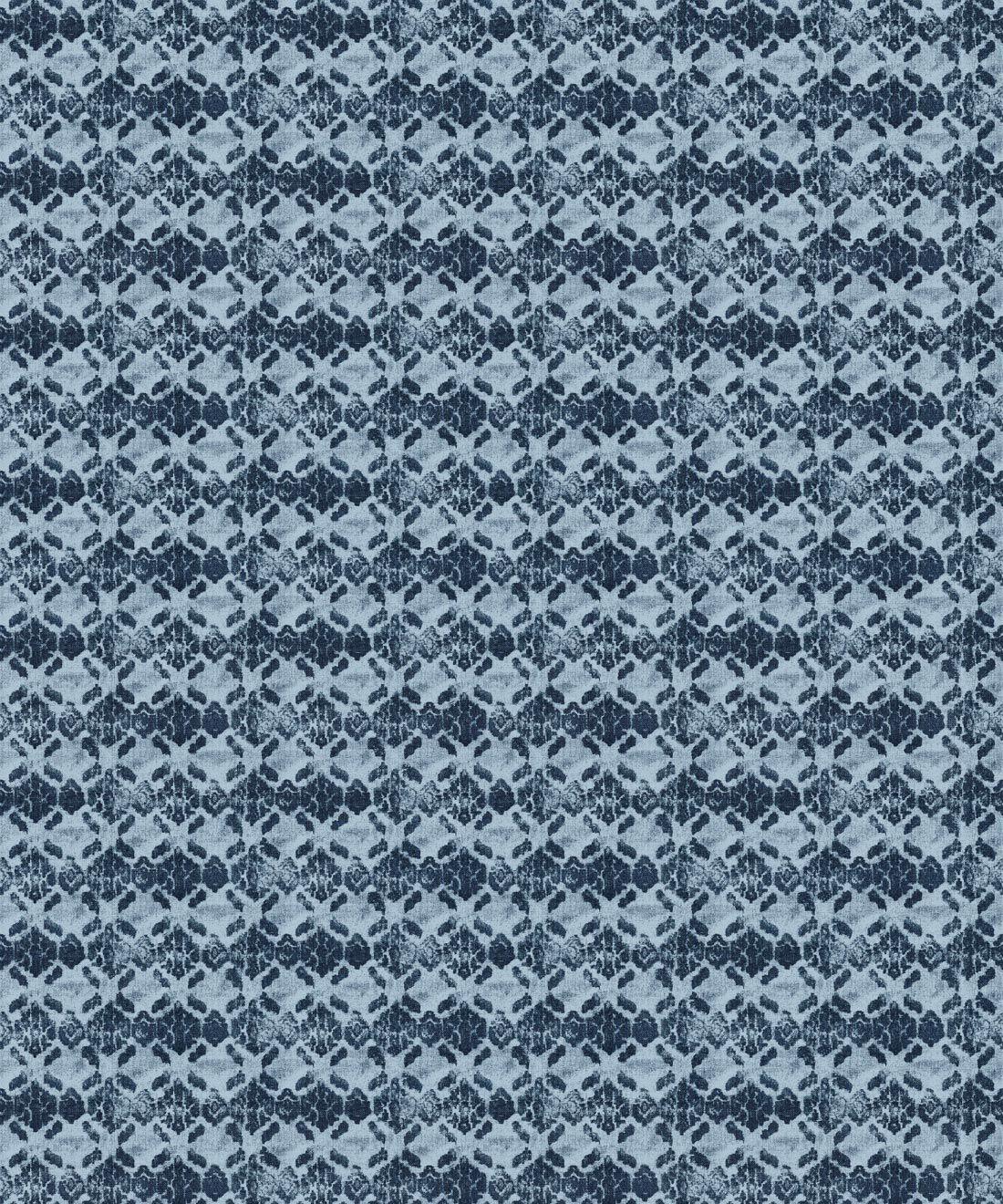 Indigo Blue Ikat Wallpaper • Shibori