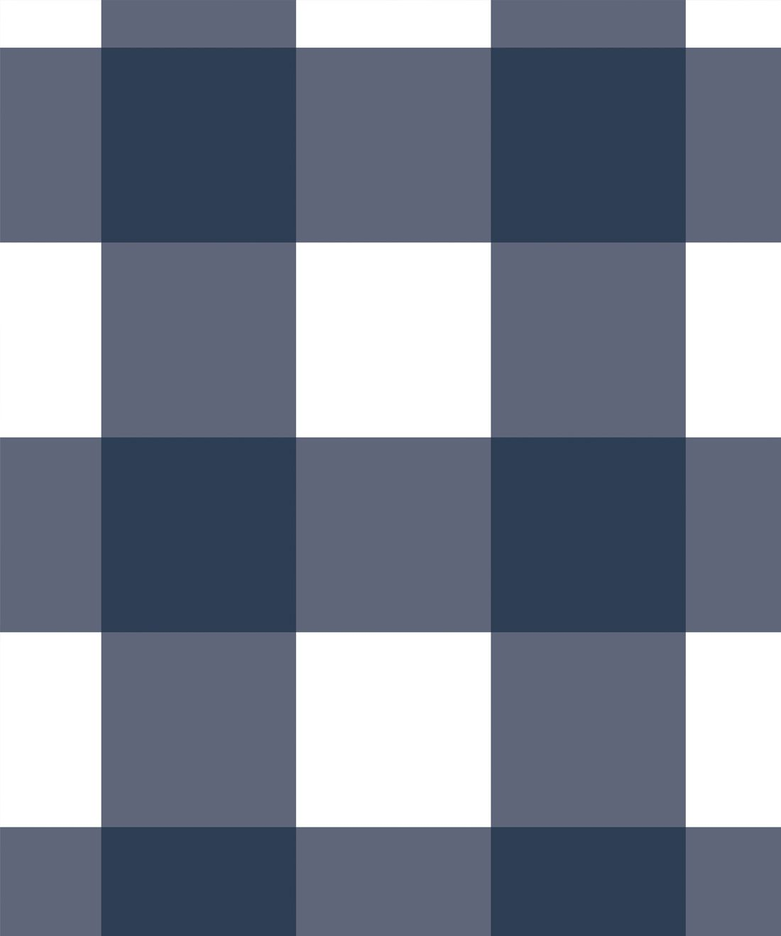 Mel's Buffalo Check Wallpaper • Navy Blue Plaid Wallpaper Swatch