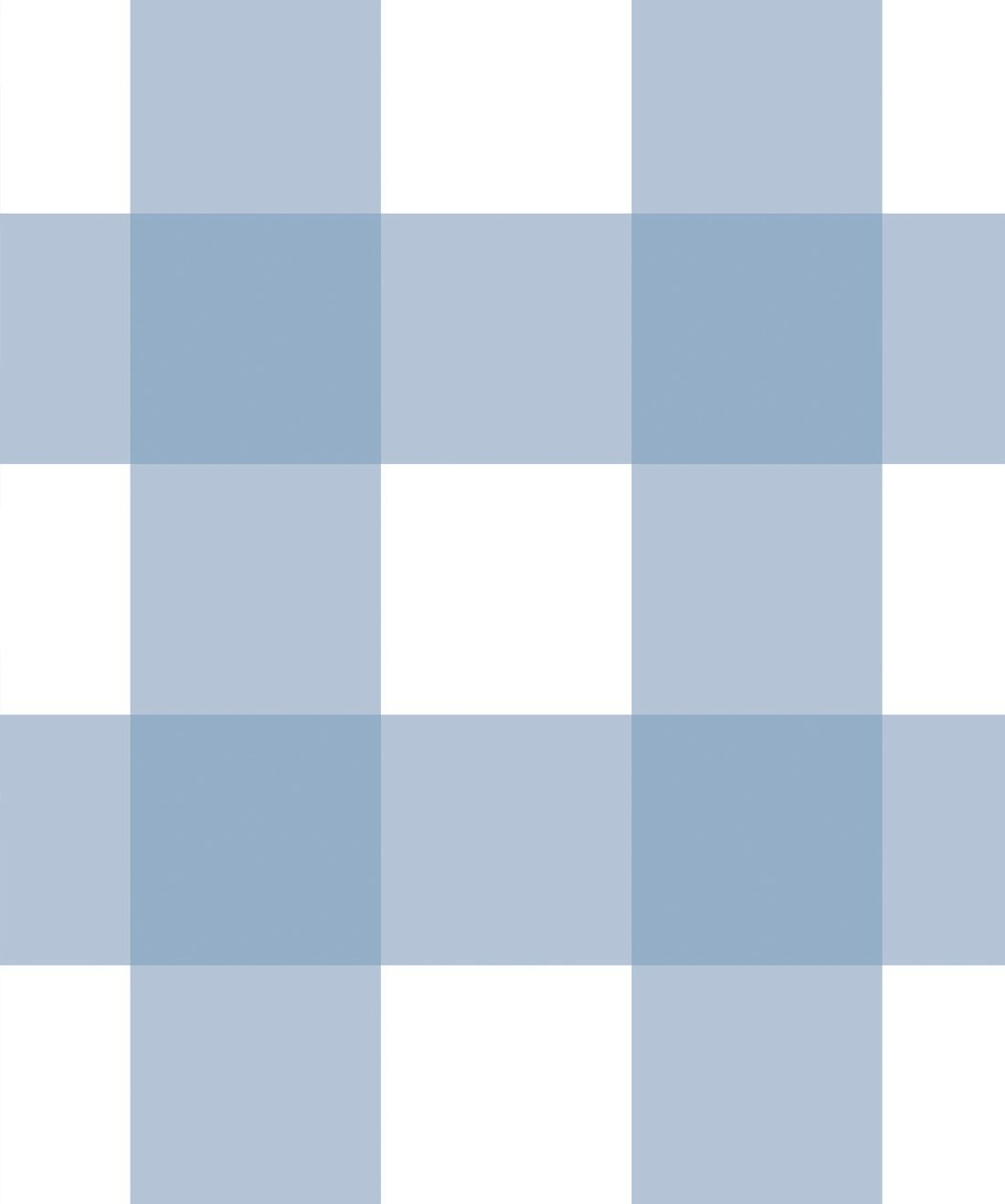 Mel's Buffalo Check Wallpaper • Pale Blue Plaid Wallpaper Swatch