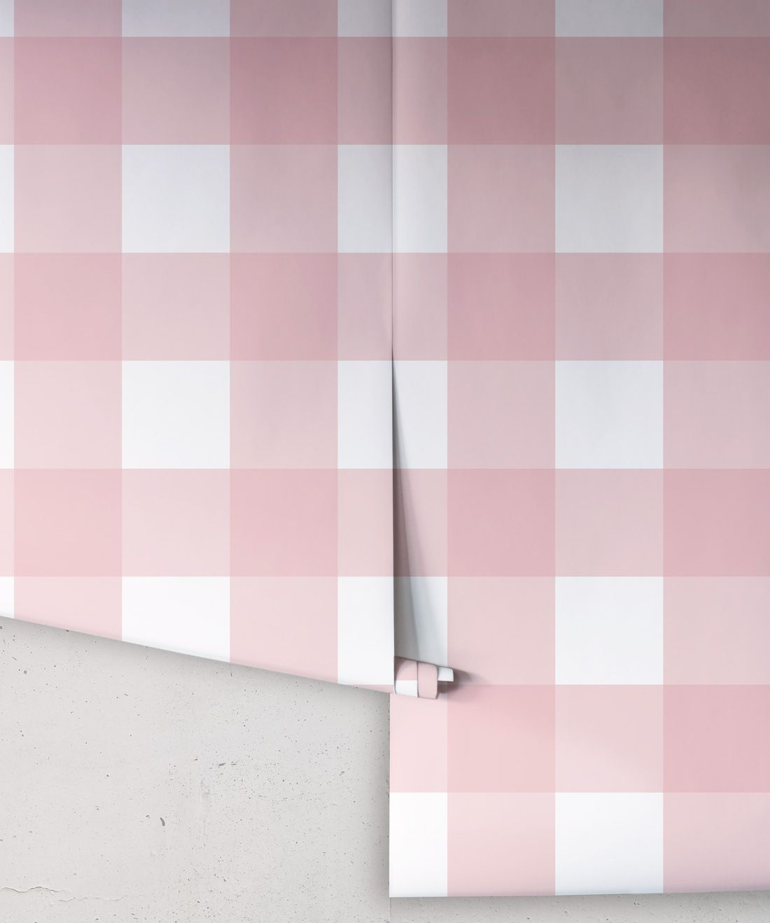 Mel's Buffalo Check Wallpaper • Pink Plaid Wallpaper Rolls