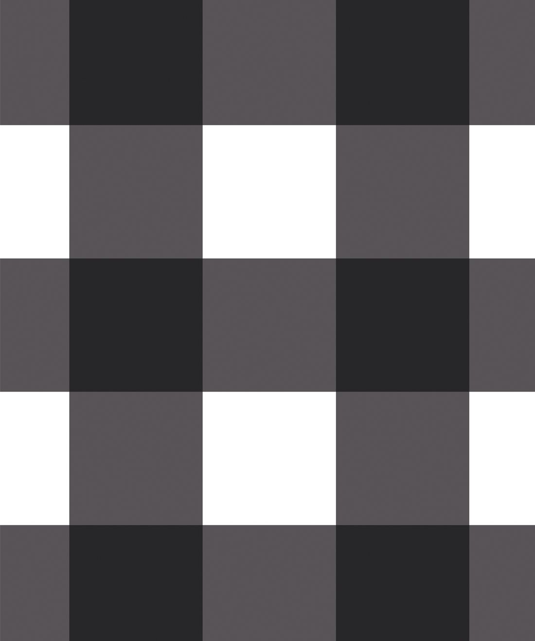 Mel's Buffalo Check Wallpaper • Black & White Plaid Wallpaper Swatch