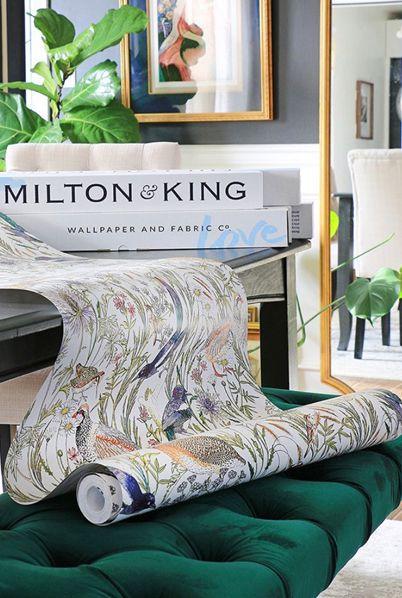 Milton & King Wallpaper • @homeemadebycarmona • Ursula Carmona • One Room Challenge • Woodland Birds Wallpaper • DIY Wallpaper