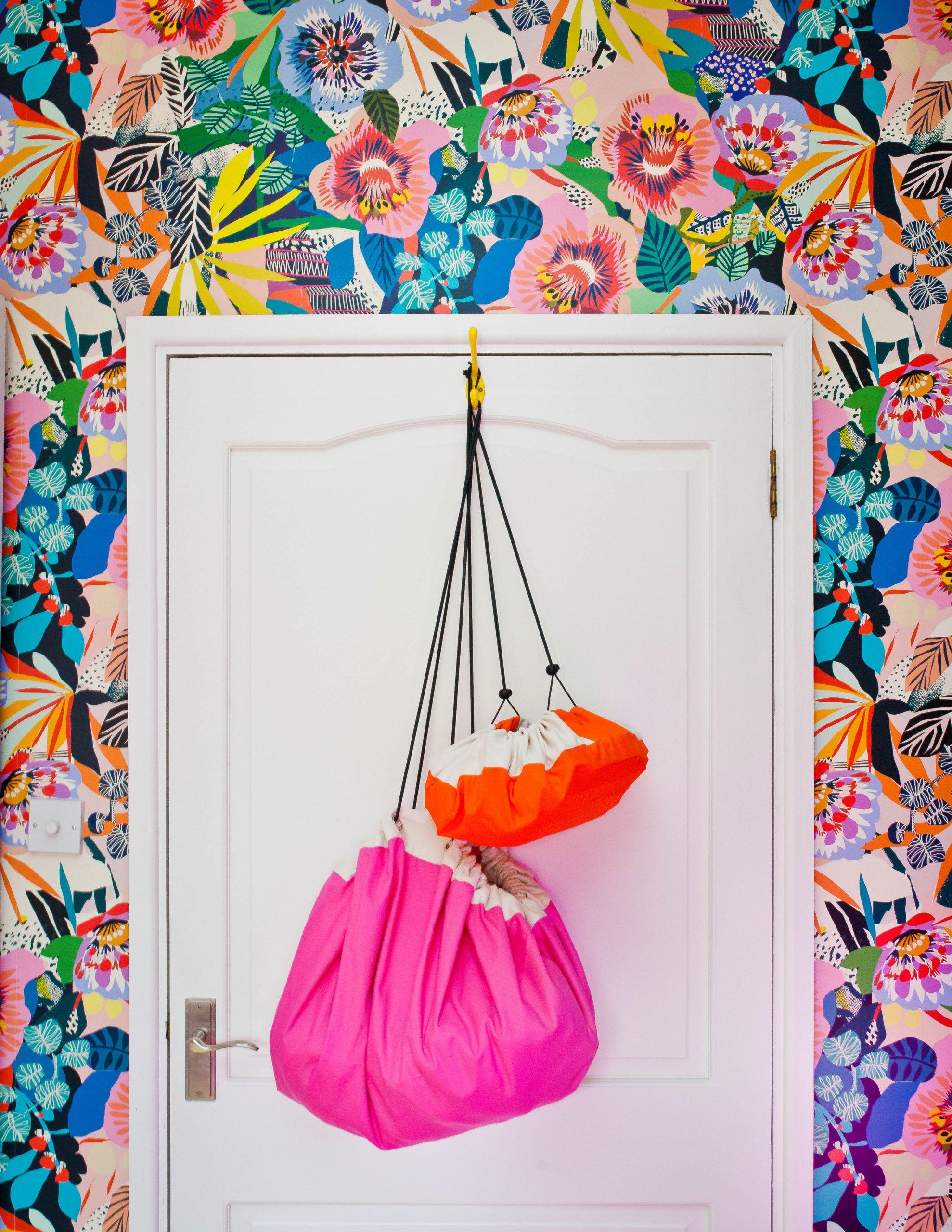 Lissi Walker • Girls Bedroom Makeover •Summer Garden Wallpaper • Kitty McCall