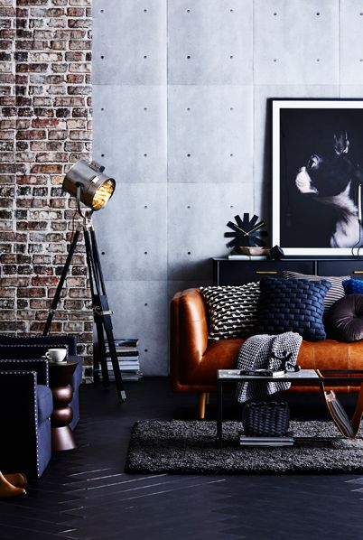 Industrial Style Wallpaper • How to decorate using brick, concrete and metal wallpapers