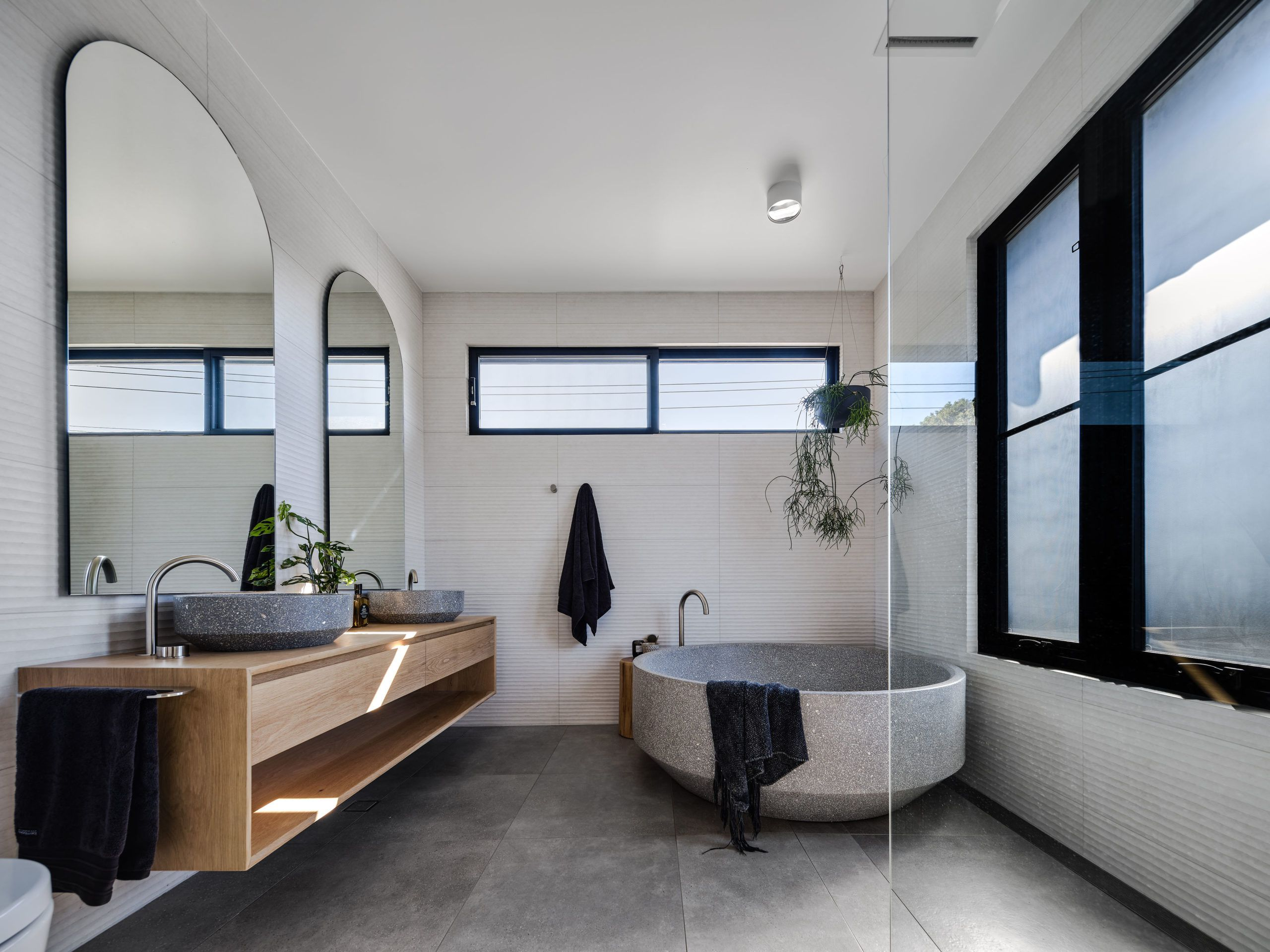 Bathroom • Barefoot Bay Villa designed by The Designory • Byron Bay