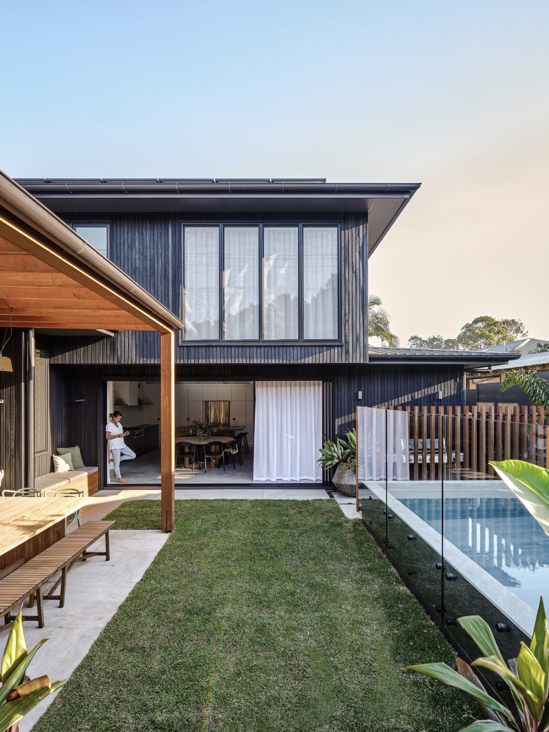 Backyard • Barefoot Bay Villa designed by The Designory • Byron Bay