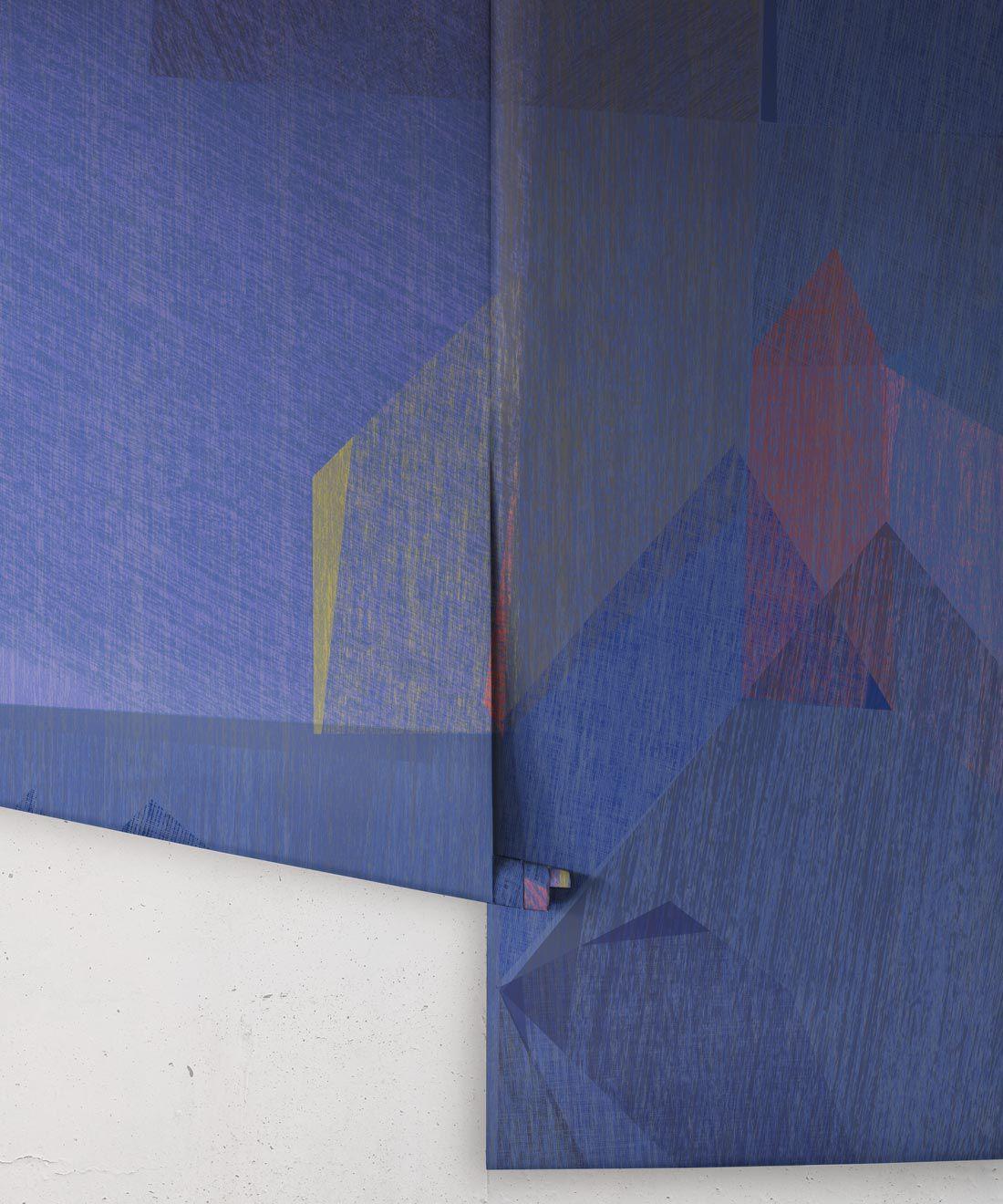 Chimera Wallpaper by Simcox • Color Cobalt • Abstract Wallpaper • Purple Wallpaper • rolls