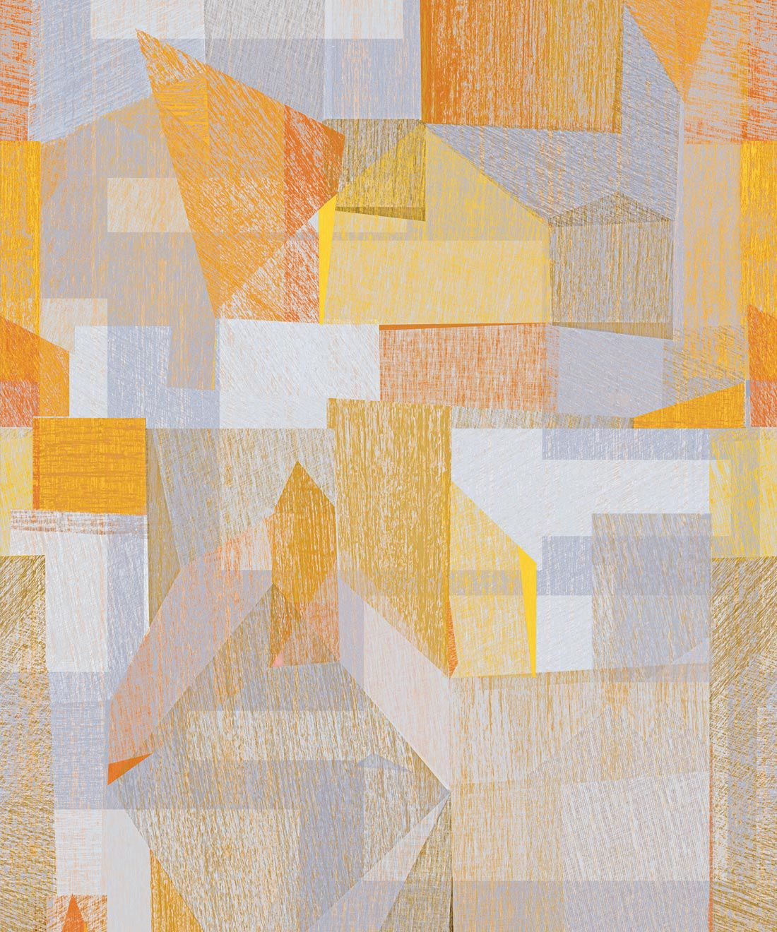 Chimera Wallpaper by Simcox • Color Yellow • Abstract Wallpaper • Geometric Wallpaper • Swatch