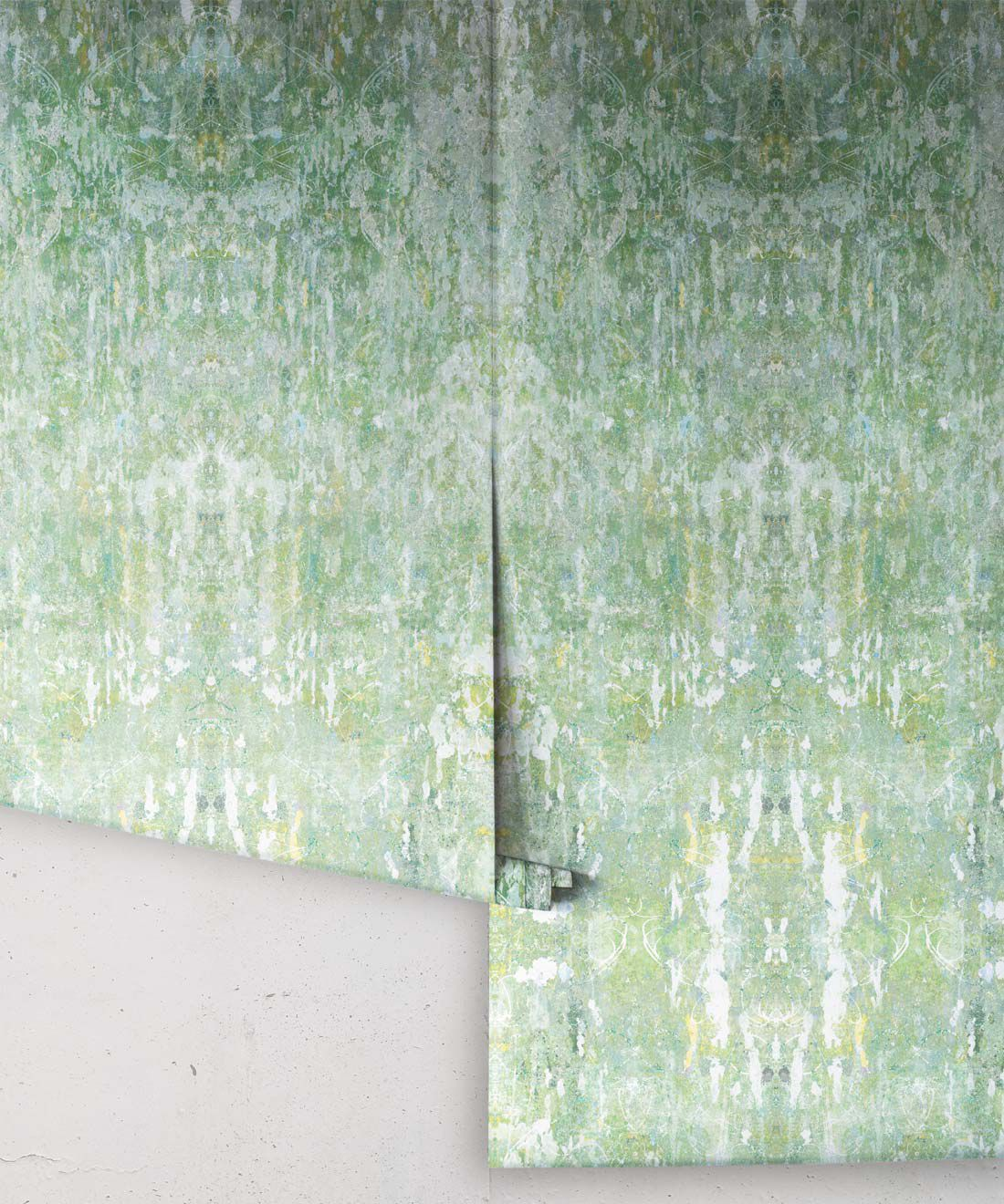 Hori Wallpaper by Simcox • Color Green • Abstract Wallpaper • rolls