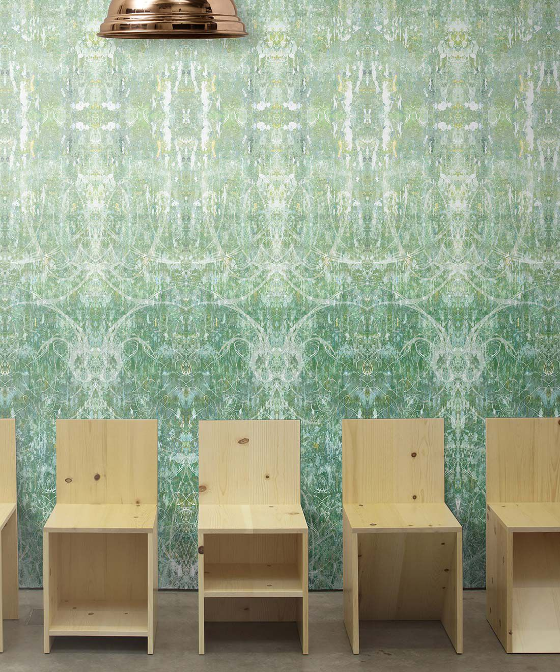 Hori Wallpaper by Simcox • Color Green • Abstract Wallpaper • insitu