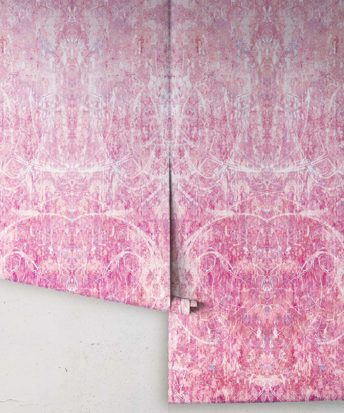 Hori Wallpaper by Simcox • Color Rose • Abstract Wallpaper • rolls