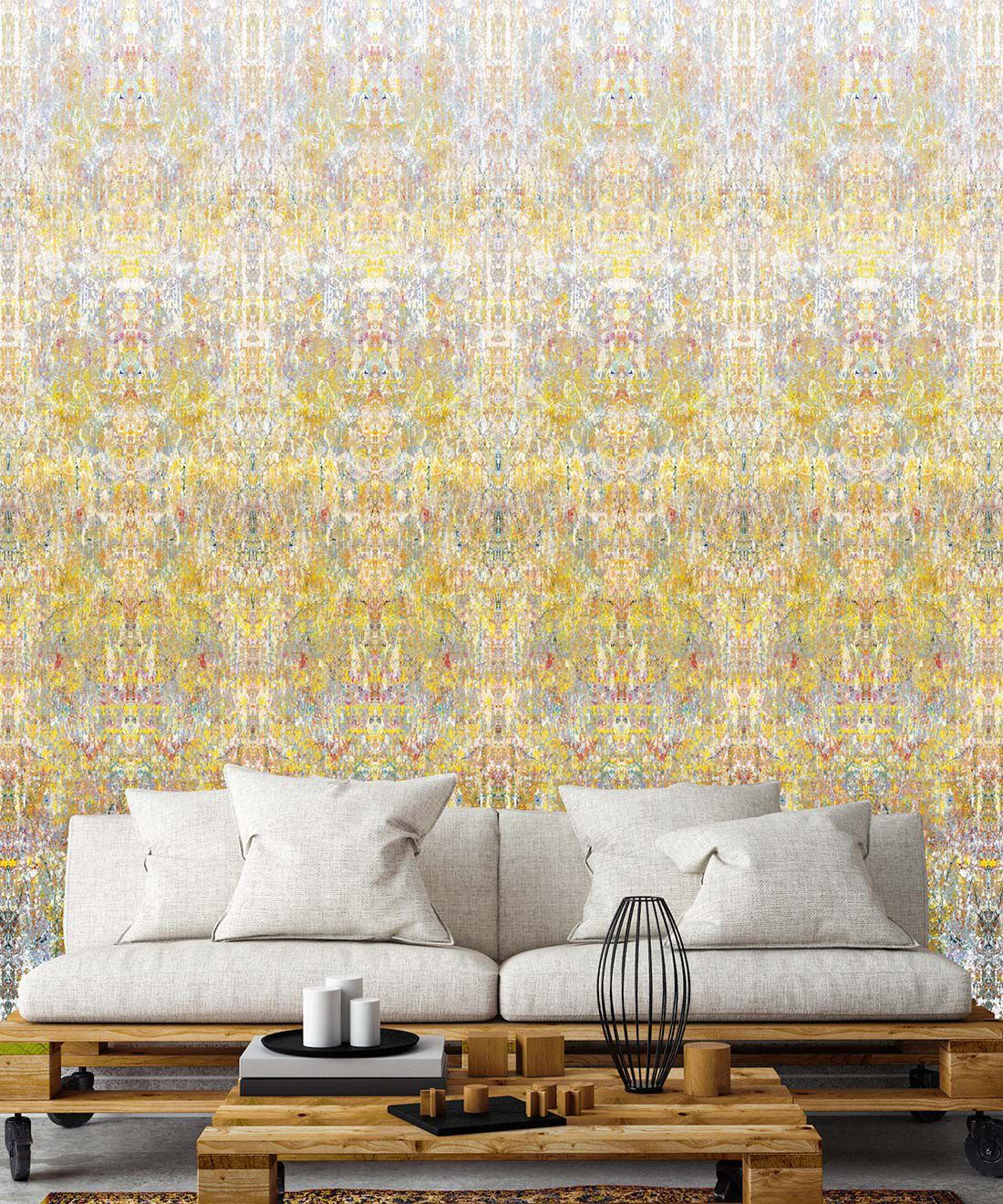 Ramose Wallpaper by Simcox • Color Light • Abstract Wallpaper • insitu
