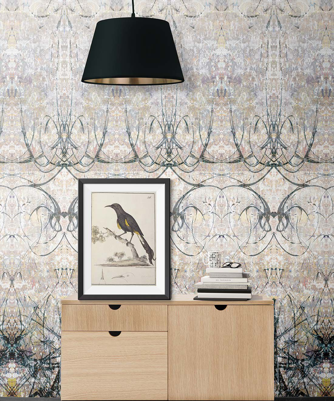 Ramose Wallpaper by Simcox • Color original • Abstract Wallpaper • insitu