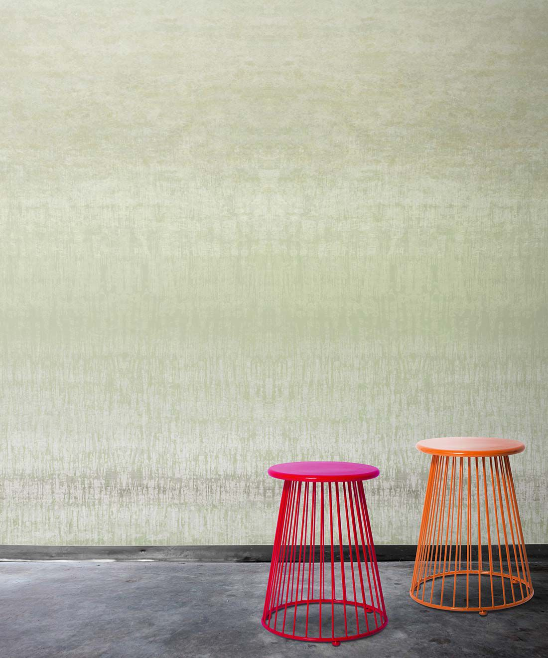 Tourmaline Wallpaper by Simcox • Color Green • Abstract Wallpaper • insitu