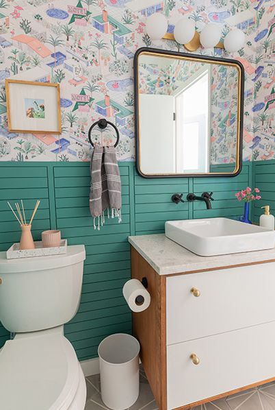 Powder Room wallpaper • Palm Springs • Double Roll