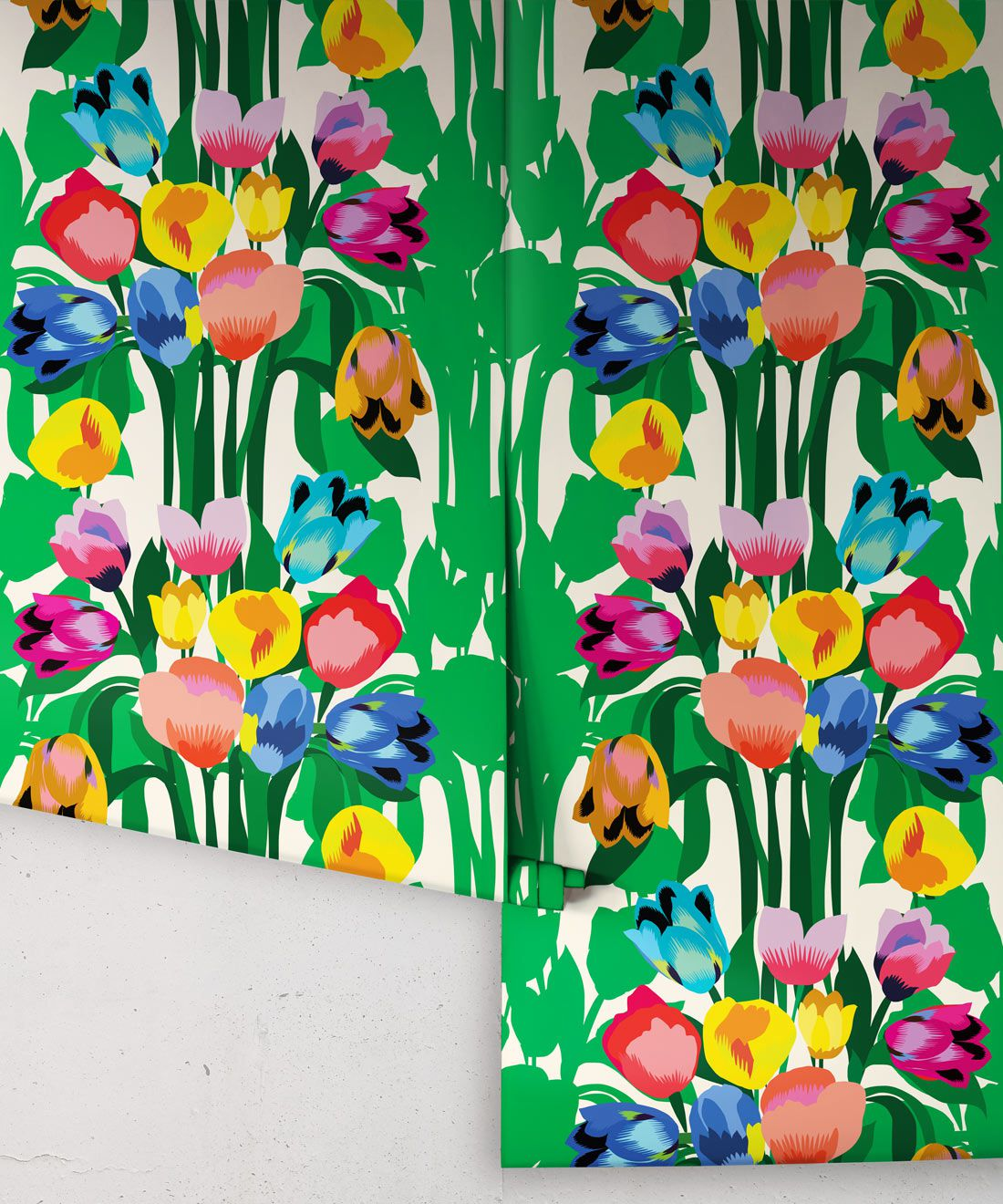 Tulips Wallpaper • Colorful Floral Wallpaper • Rolls