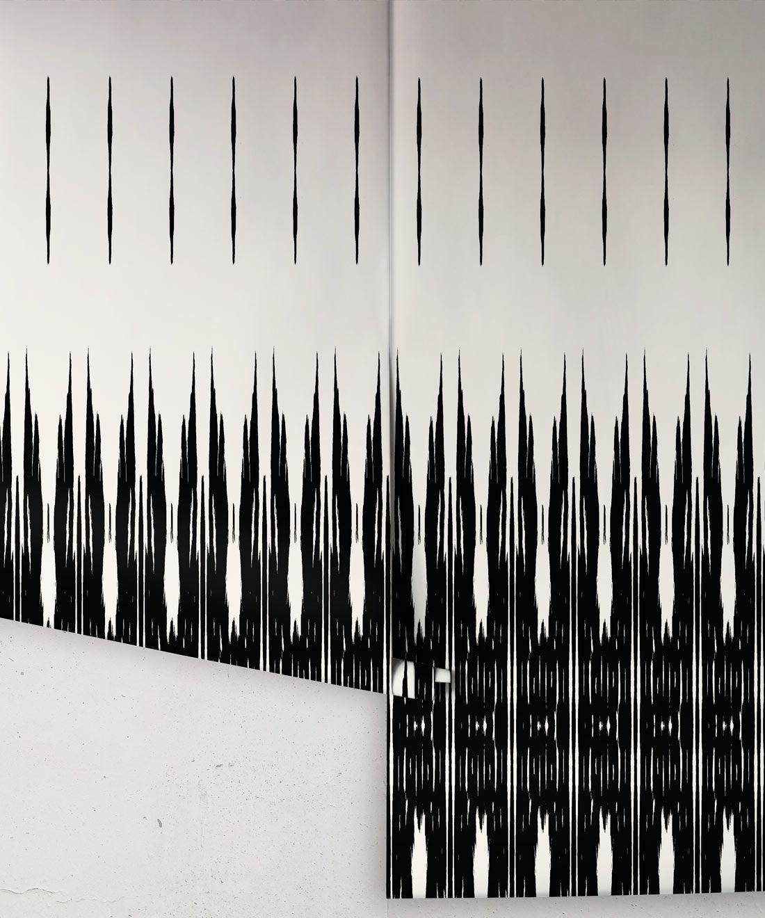 Ikat Wallpaper • Black & White Wallpaper •Kitty McCall • Rolls