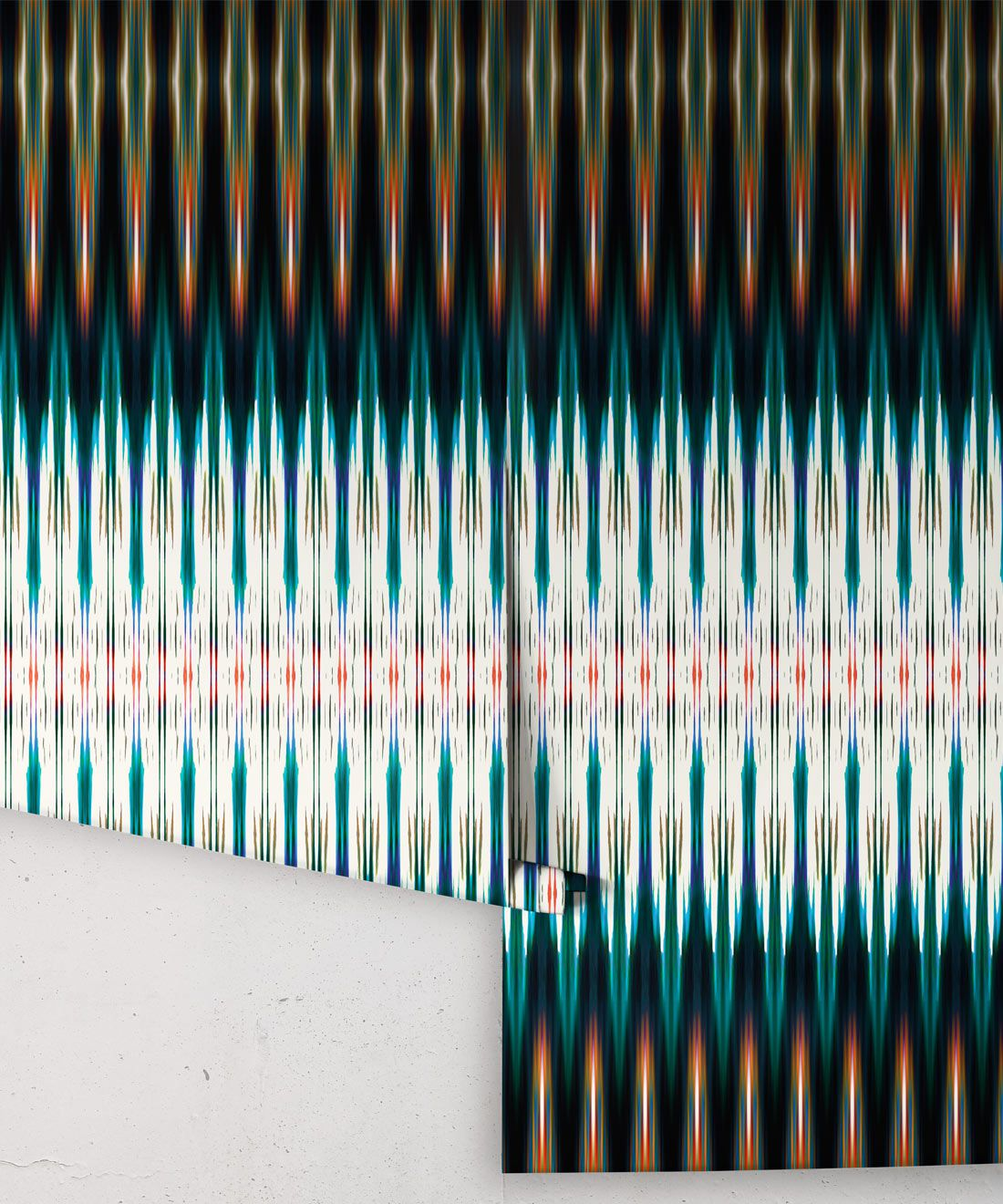 Ikat Wallpaper • Blue Wallpaper •Kitty McCall • Rolls