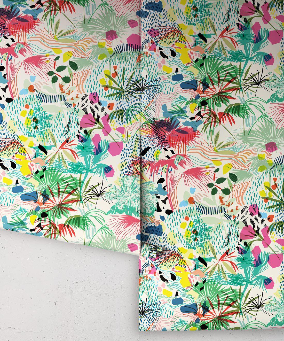 Encinitas Wallpaper • Colorful Floral Wallpaper • Rolls