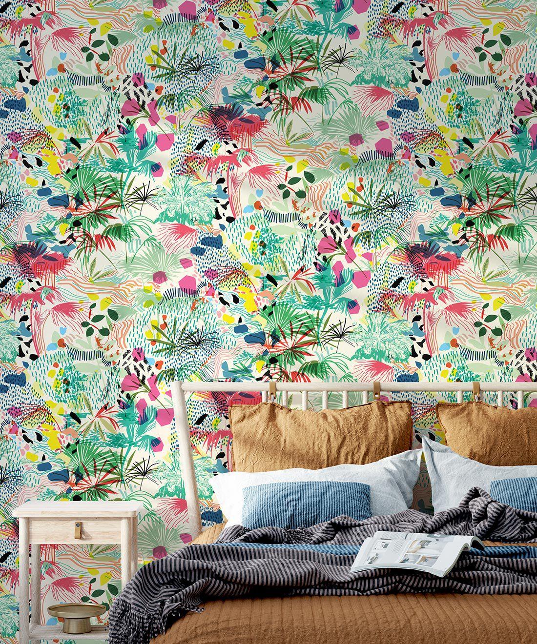Encinitas Wallpaper • Colorful Floral Wallpaper • Insitu