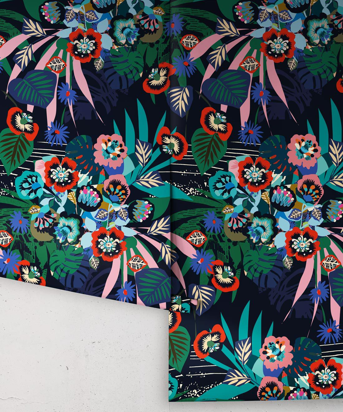 aper • Kimono Wallpaper • Japanese Wallpaper • Deep Colorful Wallpaper • Rolls