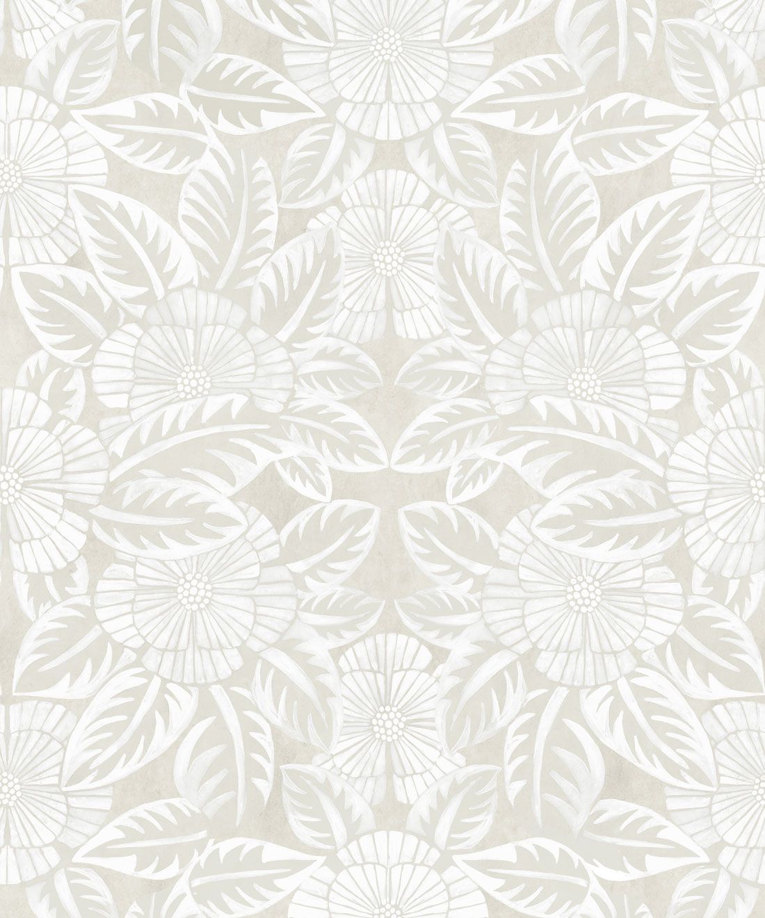 Calcutta Wallpaper • Flower and Leaf Motif Design • Ethnic Wallpaper • Beige Wallpaper • Swatch