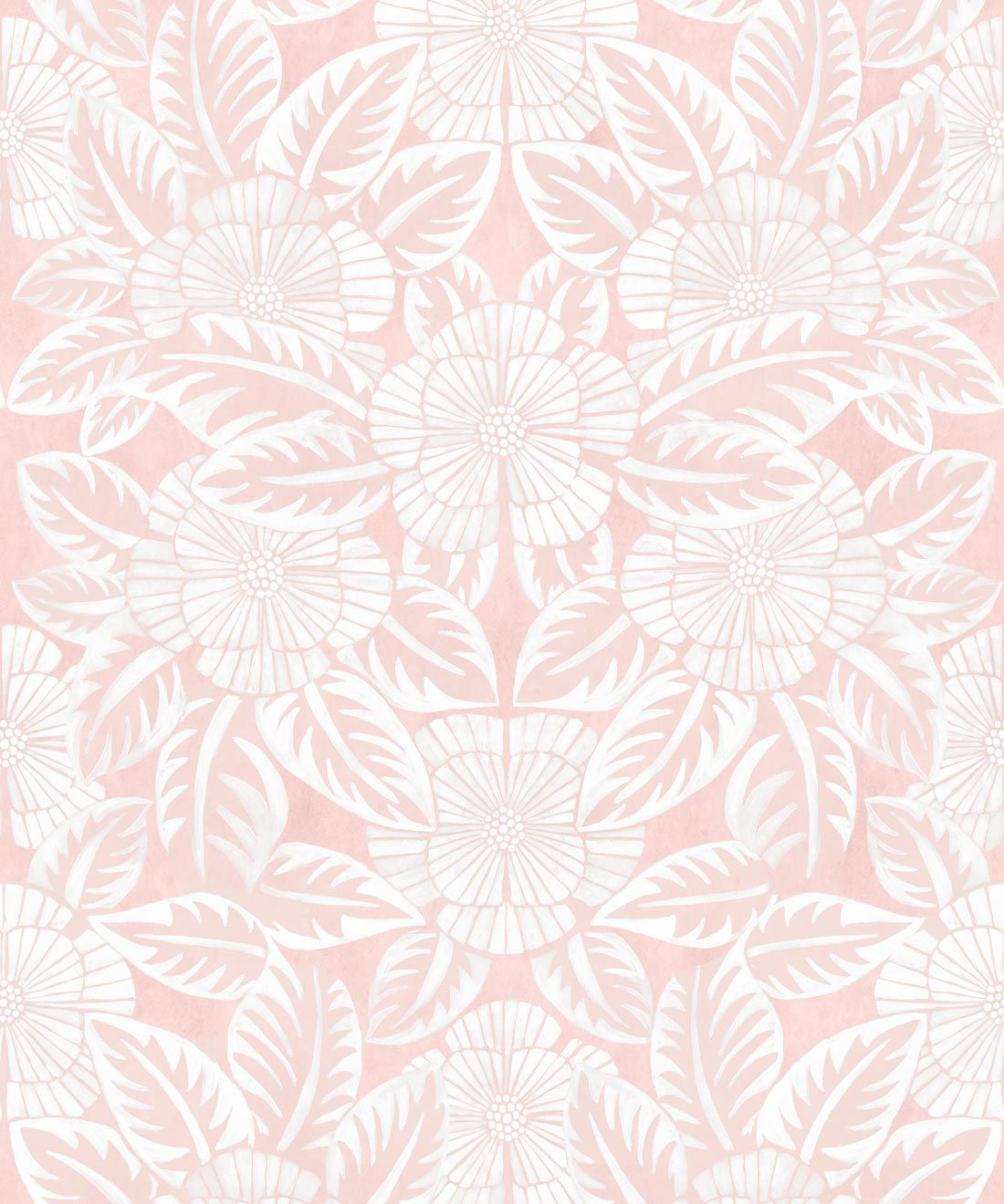 Calcutta Wallpaper • Flower and Leaf Motif Design • Ethnic Wallpaper • Pink Wallpaper • Swatch