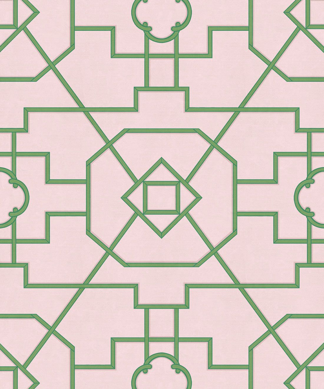 Trellis Wallpaper • Geometric Wallpaper • Pink Wallpaper • Swatch