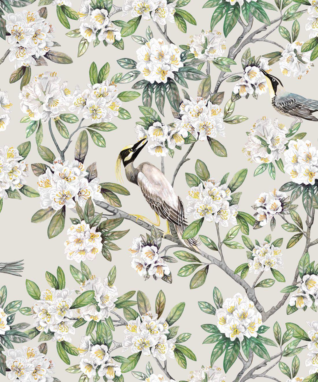 Victoria Wallpaper • Floral Wallpaper • Ivory Wallpaper • Swatch