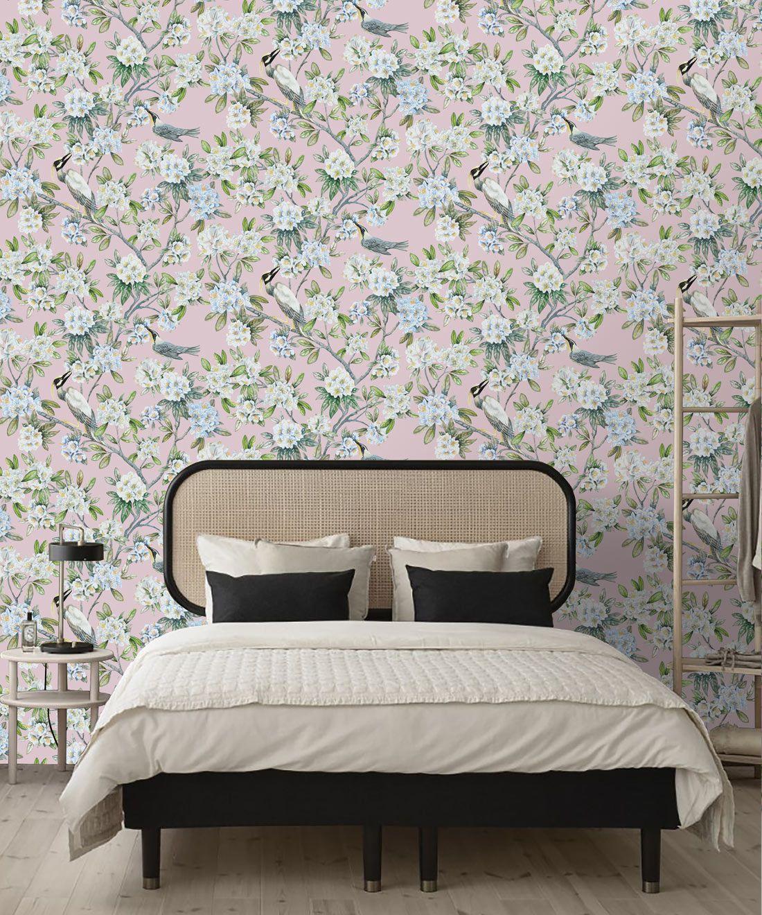 Victoria Wallpaper • Floral Wallpaper • Pink Wallpaper • Insitu