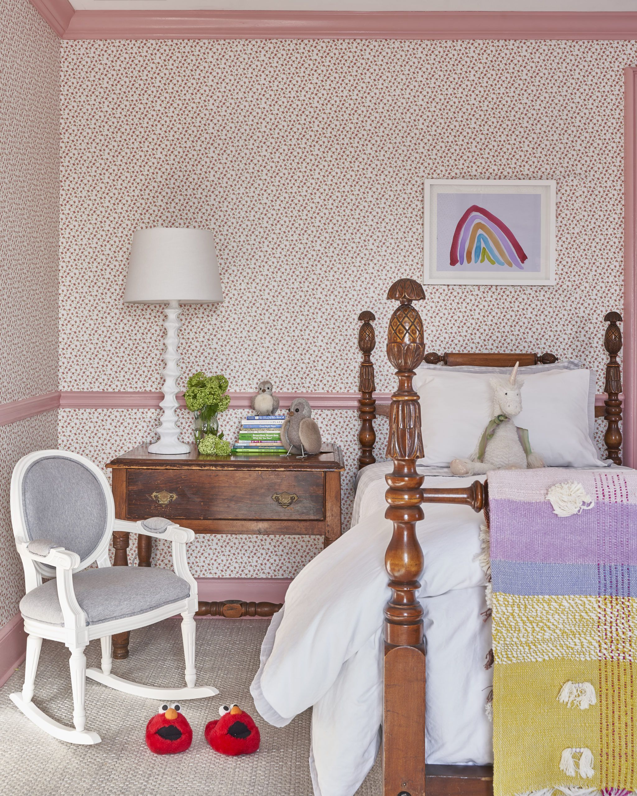 Tiny Flowers Wallpaper • Micro Floral Wallpaper • Ashley Darryl • Bedroom Interior