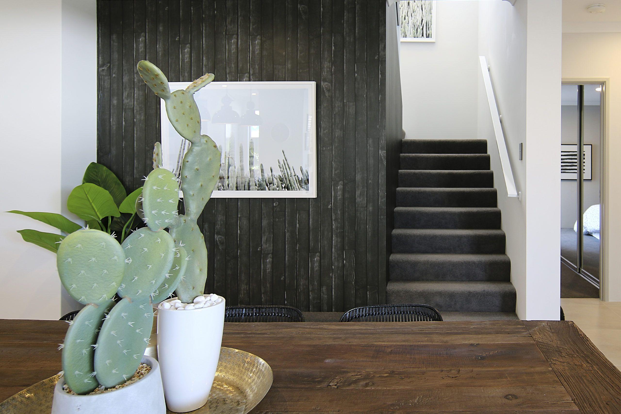 Black Wooden Boards Wallpaper • Modern Rustic Interior • Rachel Maree Design