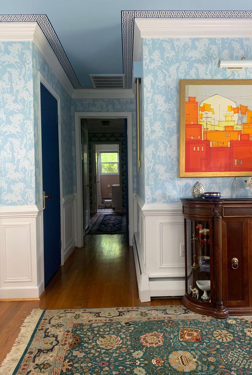 Entryway Refresh using Stampede Wallpaper by Milton & King Mehr Niazi