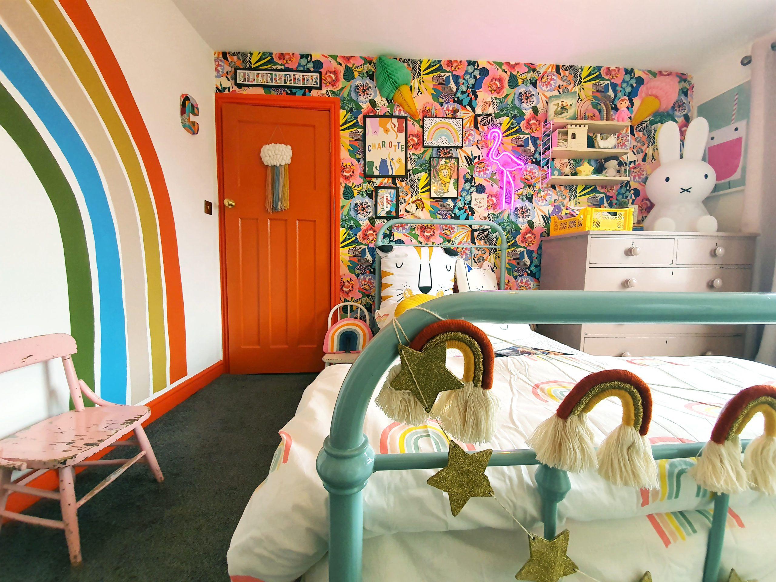 Charlotte's Room Makeover using Summer Garden Wallpaper by Milton & King