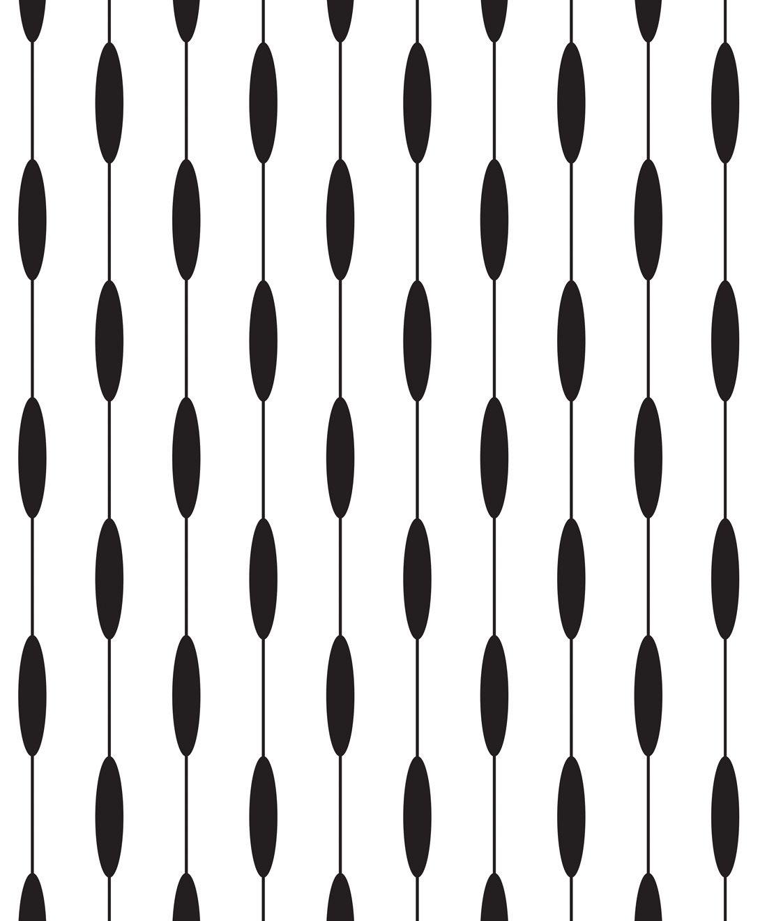 Bowline Wallpaper • Geometric Wallpaper • Striped Wallpaper • Black & White Wallpaper •Swatch