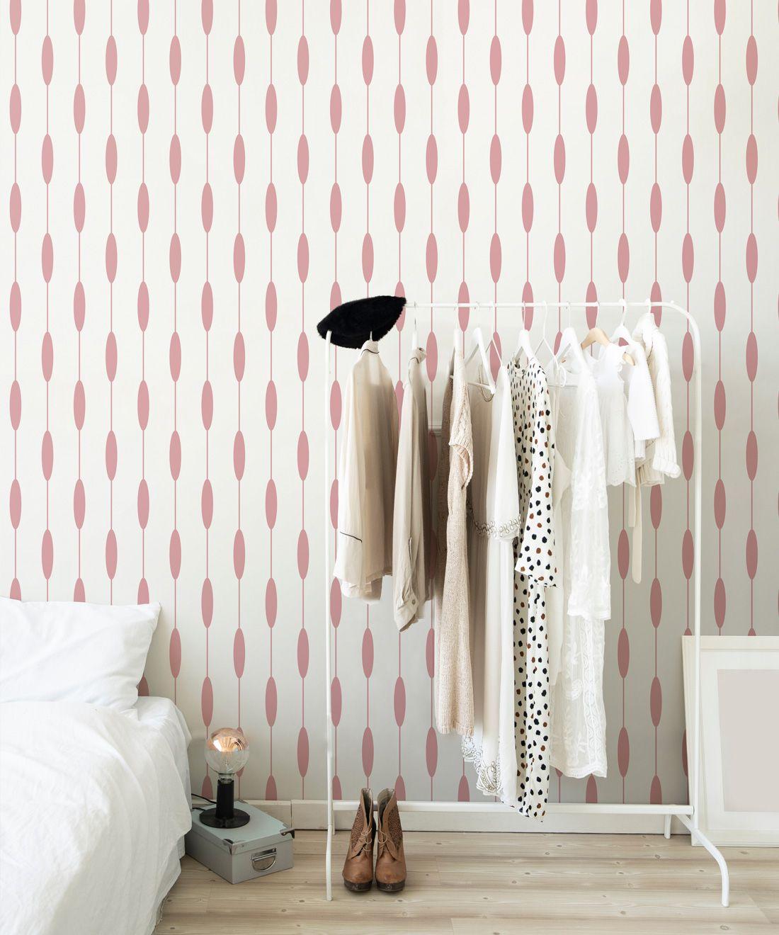 Bowline Wallpaper • Geometric Wallpaper • Striped Wallpaper • Pink Wallpaper •Insitu